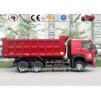 Red ZZ3257N3647A Mining Heavy Duty Dump Truck 6 X 4 Drive 20 To 30 Ton for sale