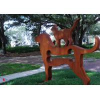 Wholesale Contemporary Metal Garden Ornaments Animals / Metal Dog Sculpture Welding Craft from china suppliers