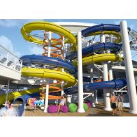 Anti - Static Swimming Pool Water Slides , Free Fall Water Slide Oxidation Resistant