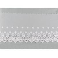 China Embroidered Nylon Dying Lace Fabric Bilateral Symmetry Lace For Wedding Dresses on sale