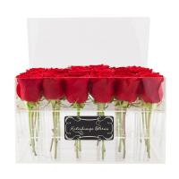 Buy cheap custom made cheap wholesale plastic rose acrylic flower box design from wholesalers