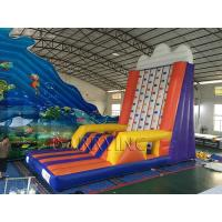 Wholesale Inflatable Interactive Games Portable Mobile Rock Climbing Wall For Amusement Park from china suppliers