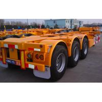 20ft Or 40ft Flatbed Container Semi Trailer CIMC Skeleton Single Tire
