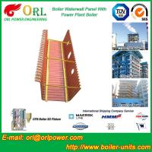 Quality Gas Steam Boiler Water Wall Panels , Boiler Water Tube Boiler Equipment for sale