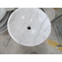 guangxi white marbe bathroom round sink stone wash basin for sale