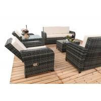 6 PCS Chair Back Adjustable Rattan Sofa Set With Powder Coated Steel Frame