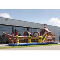 Wholesale Customized Pirate Ship Obstacle Course Bounce House Long Tunnel Obstacle Course from china suppliers