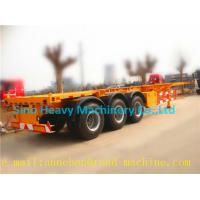 Wholesale SHMC 3 Axle Semi Trailer Trucks Skeleton Container Trailer 28t Single Speed Q235With GUANGDONG FUWA AXLES from china suppliers