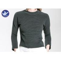 Charm Crop Top Womens Knit Pullover Sweater Lady  Three Quarter Sleeves Short Turtle Neck