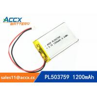 Wholesale 503759 pl503759 3.7v 1200mah lithium polymer battery rechargeable li-ion batteria from china suppliers