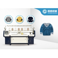 China Double System Intarsia Computerized Flat Bed Knitting Machine on sale