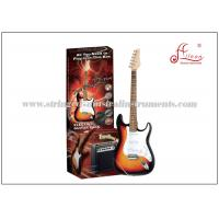 China 648mm Scale length Hard wood Music Electric Guitar / Sunburst Electric Guitar Set ST Style on sale