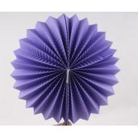 Wholesale Purple Paper Luxury Paper Accordion Lanterns / Balls With Round Shaped from china suppliers