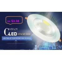 Wholesale COB LED Down Light with Epistar LED Isolated IC constant driver 3W/5W/7W/12W/15W CE RoHs from china suppliers