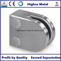 Stainless Steel Middle D Shape Flat Glass Clamp 63x45mm Fit 10.76-12.76mm Glass for Glass Railing and  Handrail