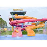 Buy cheap Outdoor Spiral Slide Water Pool Slide Playground / Fiberglass Water Slide Water Park Project from wholesalers