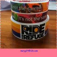 new design wide hot silicone bracelet band with CMYK printing for sale