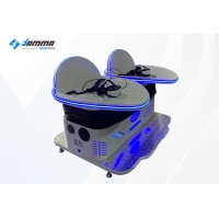 China Double Players 9D VR Cinema Roller Coaster Virtual Reality Machine on sale