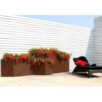 Wholesale Modern Rectangular Rusty Corten Steel Planter Anti Corrosion Classic Design from china suppliers