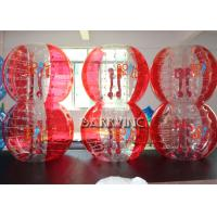 Wholesale Outdoor Inflatable Kids Toys 1.8M TPU Material Half Blue Bubble Ball / Red Bubble Balls from china suppliers