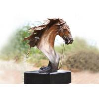 Wholesale Handmade Forging Bronze Ferghana Horse Head Garden Statue For Public Decoration from china suppliers