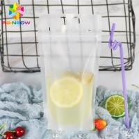China Transparent Liquid Drink Food Pouch Packaging Bags Stand Up FDA With Handles / Straws for sale