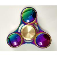 Quality 2017 Newest 2 Colors Rainbow Titanium Alloy Pocket toys Tri Hand Spinner Fingertips Spiral Fingers Gyro for sale