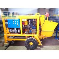 China Diesel Engine Concrete Pumping Equipment With Concrete Hose 15m3/H Output on sale