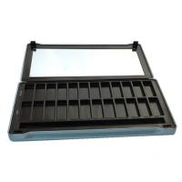 China Rectangular Hinged Tin Containers , Cosmetic Tin Box For Eyeshadow Palette for sale