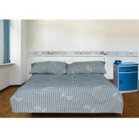 Buy cheap 220TC 40S Printed Stripe Polyester Cotton Bed Sheets For Hospital / Home from wholesalers