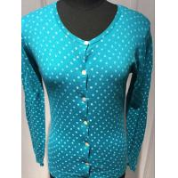 Wholesale Spot Cardigan Sweaters For Women , Ladies Cardigan Sweaters Round Neck 14gg from china suppliers