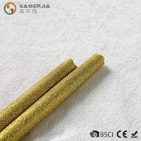 Wholesale Gold Glitter LED Taper Candles With Timer , Flameless Real Wax Candle from china suppliers