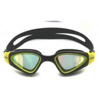 Wholesale UV Protection Soft Competitive Swim Goggles with Gold Mirrored Lens from china suppliers