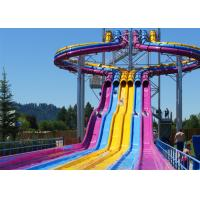 Quality Fiberglass Swimming Pool Water Slides , Playground Water Slides For Kids for sale