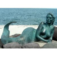China Decoration Mermaid Outdoor Bronze Garden Sculpture 200cm Length OEM Available for sale