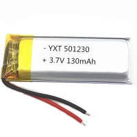Wholesale Custom made PL501230 130mAh 3.7 V Lithium Ion Polymer Battery for sale from china suppliers