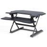 Pneumatic Corner Height Adjustable Standing Desk Converter With Keyboard for sale