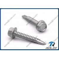 China Disgo Plated Stainless Steel 410 Hex Washer Head Self Drilling Screw for Metal / Steel on sale