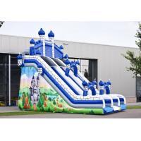 Wholesale Blue Castle Large Comelot Jump And Slide Inflatables With Climbing Wall from china suppliers