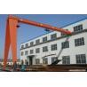 YT single beam semi gantry crane,single girder gantry crane 10 ton for sale