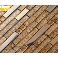 Wholesale OEM durable BedRoom Wall Decoration Metallic Linear Glass Mosaic Tiles from china suppliers