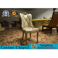 China Restaurant / Living Room Simple PU Leather Casino Gaming Chairs With Solid Wood Frame Korean  Hotel for sale