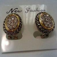 Wholesale (E-28)Fashion Jewelry Gold Plated Austrian Crystal Pave Colourful CZ Diamond stud Earrings from china suppliers
