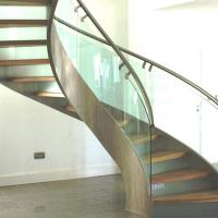 Wholesale Modern Design Stainless Steel Curved Stair / Circular Staircases from china suppliers