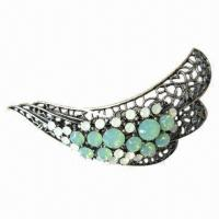 Wholesale CZ Shining Stones Brooch, Made of Zinc Alloy, Customized Sizes, Colors and Materials are Accepted from china suppliers