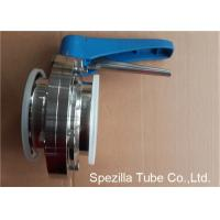 Quality A270 Sanitary Valves And Fittings Stainless Steel Plastic Handle Tri Clamp Butterfly Valve for sale