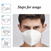Wholesale 5 Layer EarLoop Non Woven Dustproof KN95 Face Mask from china suppliers