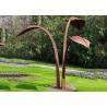 Buy cheap Modern Style Abstract Outdoor Corten Steel Garden Leaf Sculpture from wholesalers