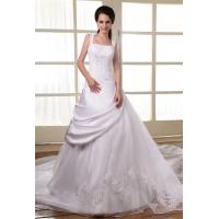 Wholesale High End Organza Spaghetti Strap A Line Wedding Dresses Bridal Gown from china suppliers