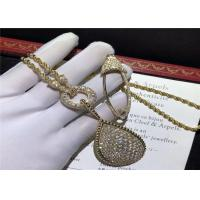 Wholesale boucheron jewelry High End 18K Gold Diamond Necklace , Custom  Snake Necklace from china suppliers